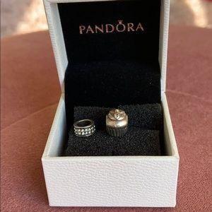 Pandora Charms - Cupcake and Spacer